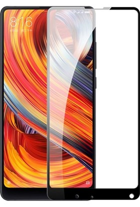 Teleplus Xiaomi Mi Mix 2S Tam Kapatan Ekran Koruyucu Cam - Siyah