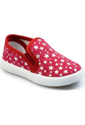 Flubber Kız Keten Ayakkabı Kırmızı 22033-395