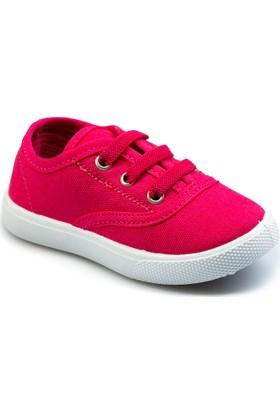 Flubber Kız Keten Ayakkabı Fuşya 22030-017