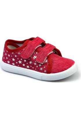 Flubber Kız Keten Ayakkabı Kırmızı 22037-030