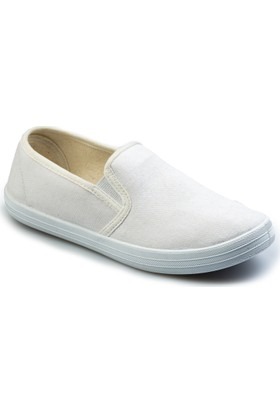 Flubber Kız Keten Ayakkabı Beyaz 22560-002