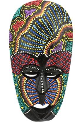 Dekodem Ahşap Renkli Benkli Maske Duvar Süsü