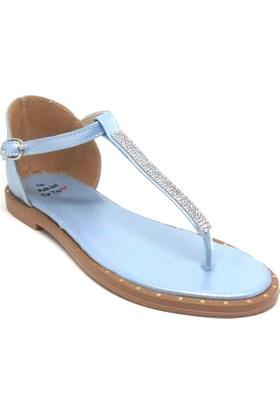 Shop And Shoes 127-1004 Kadın Sandalet Mavi