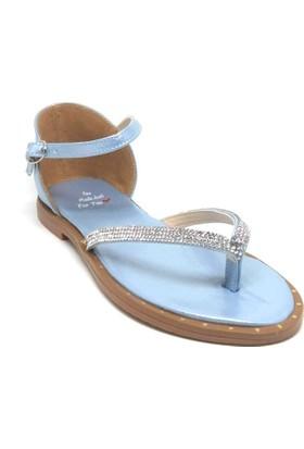 Shop And Shoes 127-1006 Kadın Sandalet Mavi