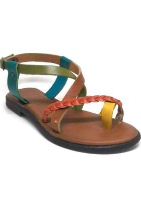 Shop And Shoes 155-250104 Kadın Sandalet Multi