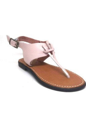 Shop And Shoes 155-250117 Kadın Sandalet Pudra