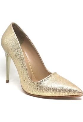 Shop And Shoes 164-2005 Kadın Stiletto Altın