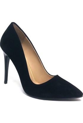 Shop And Shoes 164-2005 Kadın Stiletto Siyah Süet
