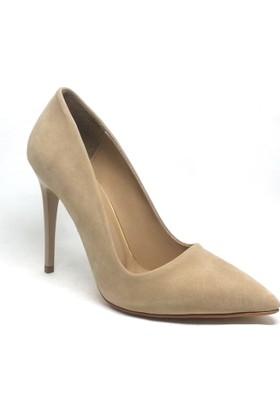Shop And Shoes 164-2005 Kadın Stiletto Ten Süet