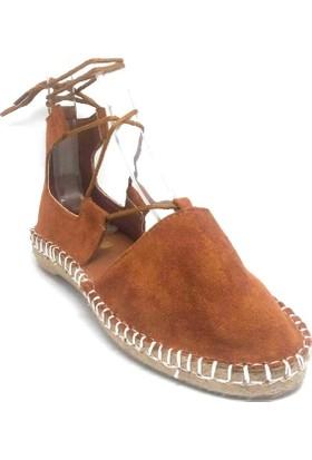 Shop And Shoes 172-1405 Kadın Sandalet Taba Süet