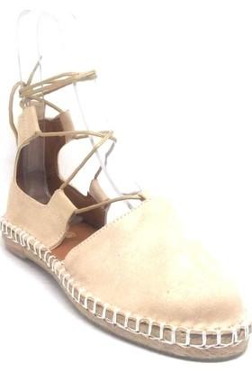 Shop And Shoes 172-1405 Kadın Sandalet Bej Süet