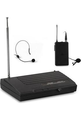 Mikado 2 Kanal Vhf Kablosuz Set Mikrofon Mcw-44A Siyah