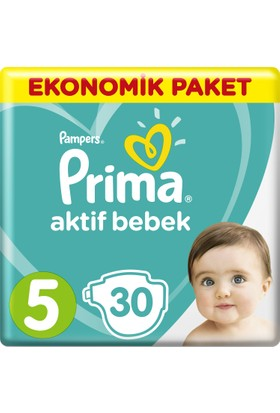 Prima Bebek Bezi Aktif Bebek 5 Beden Junior Ekonomik Paket 30 Adet