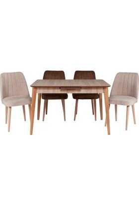 Ri̇ş Mobi̇lya Otomatik Açılır Mutfak Masa Takımı Retro Sandalye