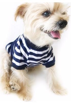 Kemique Navy Strıpes Oval Yaka Tişört Summer T By Köpek Elbisesi