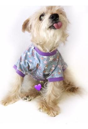 Kemique Purple Stars Oval Yaka Tişört Summer T By Köpek Elbisesi
