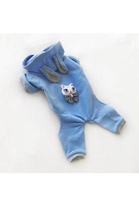 Kemique Blue Kıtty Cat Kulaklı Tulum By Kedi Kıyafeti