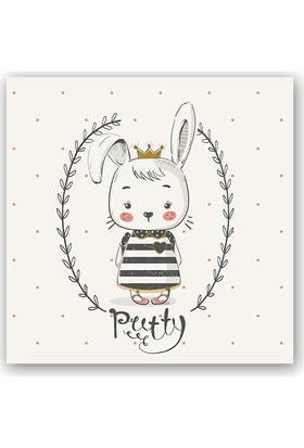 Diji Kanvas Sevimli Yavru Tavşan Çocuk Odası Kanvas Tablo