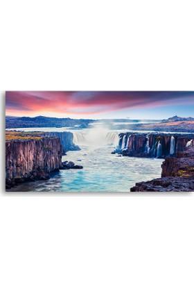 Diji Kanvas Iceland Şelale Manzara Kanvas Tablo
