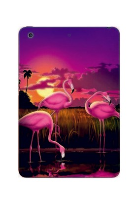GoGo Apple iPad Mini 2/3 Flamingo Baskılı Silikon Kılıf