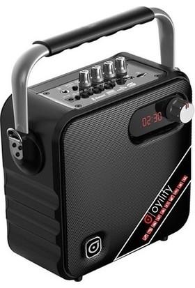 """Oyility T-5 5"""" 30 Watt Kablosuz Yaka Mikrofonlu Taşınabilir Şarjlı Ses Sistemi"""