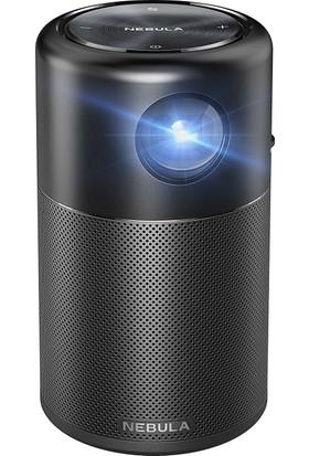 Anker Nebula Capsule Akıllı Taşınabilir WiFi Kablosuz Pico Projeksiyon Cihazı ve Hoparlör