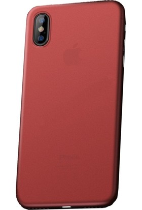 Vendas Apple iPhone X Kırmızı Silikon Kılıf + Ekran Koruyucu