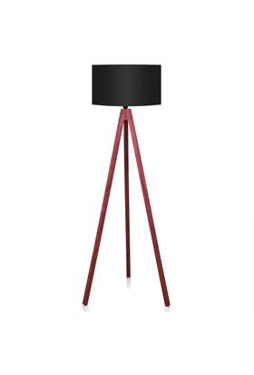 Zeyrek 3 Ayaklı Tripod Lambader - Siyah / Kırmızı
