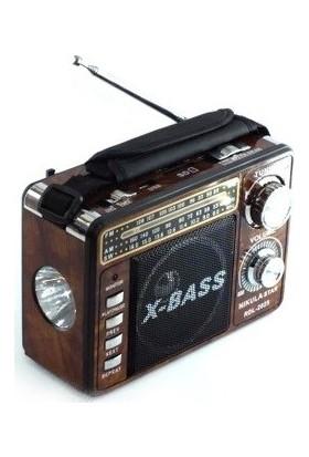 Nikula Star Şarjlı Radyo Mp3 Müzik Çalar Usb Tf Aux Rdl2025