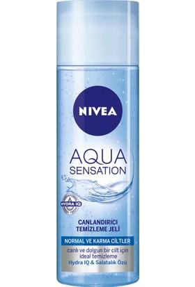 Nivea Aqua Sensatıon Canlandırıcı Yüz Temizleme Jeli Normal/Karma 200Ml