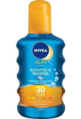 Nivea Sun Koruma&Ferahlık Serinleten Transparan Güneş Spreyi Gkf 30 200Ml