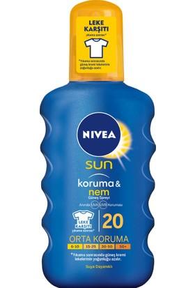 Nivea Sun Koruma&Nem Nemlendirici Güneş Spreyi Gkf 20 200Ml