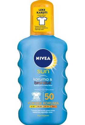 Nivea Sun Koruma&Bronzluk Bronzluk Arttırıcı Güneş Spreyi Gkf 50 200Ml