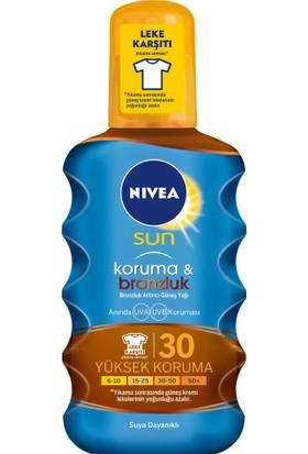 Nivea Sun Koruma & Bronzluk Arttırıcı & Koruyucu Güneş Yağı Gkf 30 200Ml
