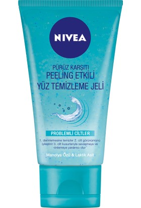 Nivea Pure&Effect Pürüz Karşıtı Yüz Temizleme Jeli 150Ml