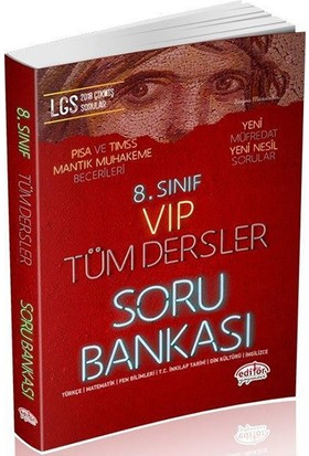 Editör 8. Sınıf LGS VIP Tüm Dersler Soru Bankası