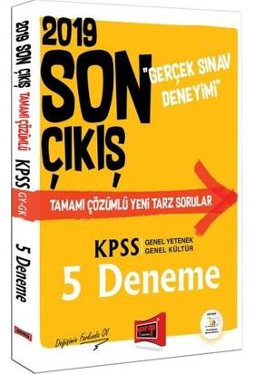 Yargı Yayınevi 2019 KPSS Genel Yetenek Genel Kültür Son Çıkış Tamamı Çözümlü 5 Deneme