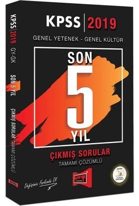 Yargı Yayınevi 2019 KPSS Genel Yetenek Genel Kültür Son 5 Yıl Tamamı Çözümlü Çıkmış Sorular