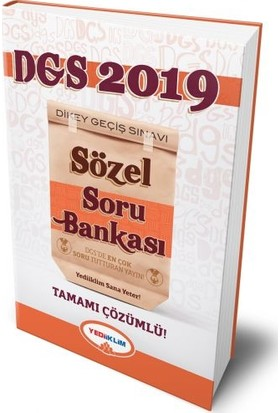 Yediiklim Yayınları 2019 DGS Sözel Bölüm Tamamı Çözümlü Soru Bankası
