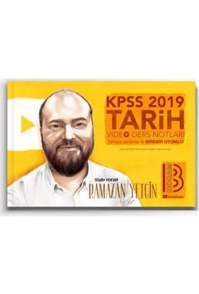 Benim Hocam Yayınları 2019 Kpss Tarih Video Ders Notları - Ramazan Yetgin