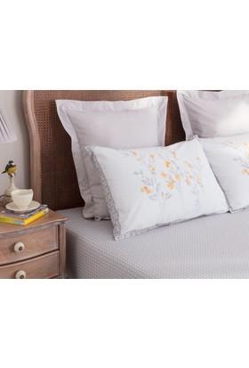 Madame Coco Aliane Yastık Kılıfı Seti - Gri - Sarı