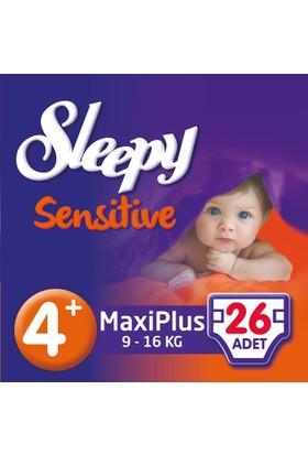 Sleepy Sensitive Bebek Bezi 4+ Beden Maxi Plus Jumbo Paket (26 Adet)