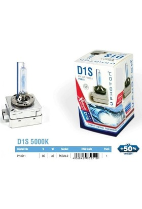 Photon D1S 5000K Xenon Ampül %50 Fazla Işık Ph4511