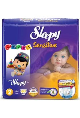 Sleepy Sensitive 2 numara Mini Pepee 60 adet (3-6 Kg)