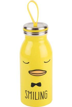 Tantitoni Sarı Ördek Desenli Paslanmaz Çelik Termos - 350 ml