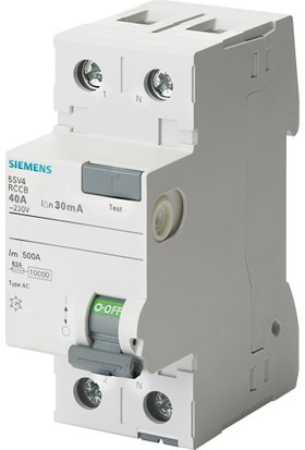 Siemens 5Sv4614-0 40A 300Ma 230V (Faz+Nötr) Kaçak Akım Koruma Rölesi