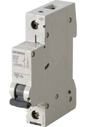 Siemens 5Sl6110-6Ya 1 Fazlı 10 Amper B Tipi Çabuk Karakterli 6Ka Otomatik Sigorta 12 Adet