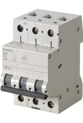 Siemens 5Sl6325-7Ya 3 Fazlı 25 Amper C Tipi Yavaş Karakterli 6Ka Otomatik Sigorta 4 Adet