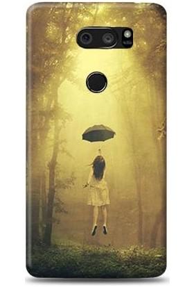 Exclusive LG V30 Plus Şemsiyeyle Uçmak Desenli Kılıf