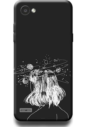 Exclusive LG Q6 Galaksi Kafası Desenli Kılıf